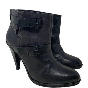 Report Signature Norris Leather Black Ankle Boots